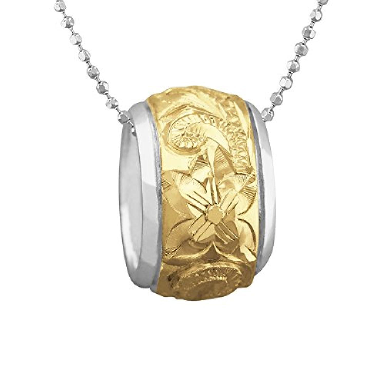 [ハワイアン シルバー ジュエリー] Hawaiian Silver Jewelry タル型 (バレル) ネックレス イエローゴールド トーン シルバー925 [インポート]