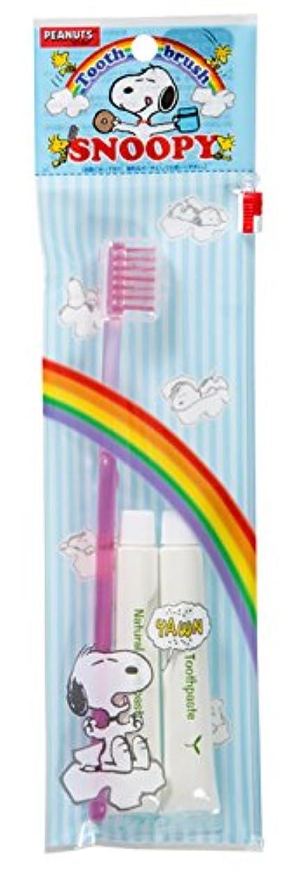 もろい花瓶世代ファイン 歯ブラシセット カラフルスヌーピー ピンク