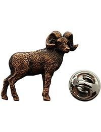 Big Horn Sheepピン~アンティーク銅~ラペルピン~サラのTreats & Treasures