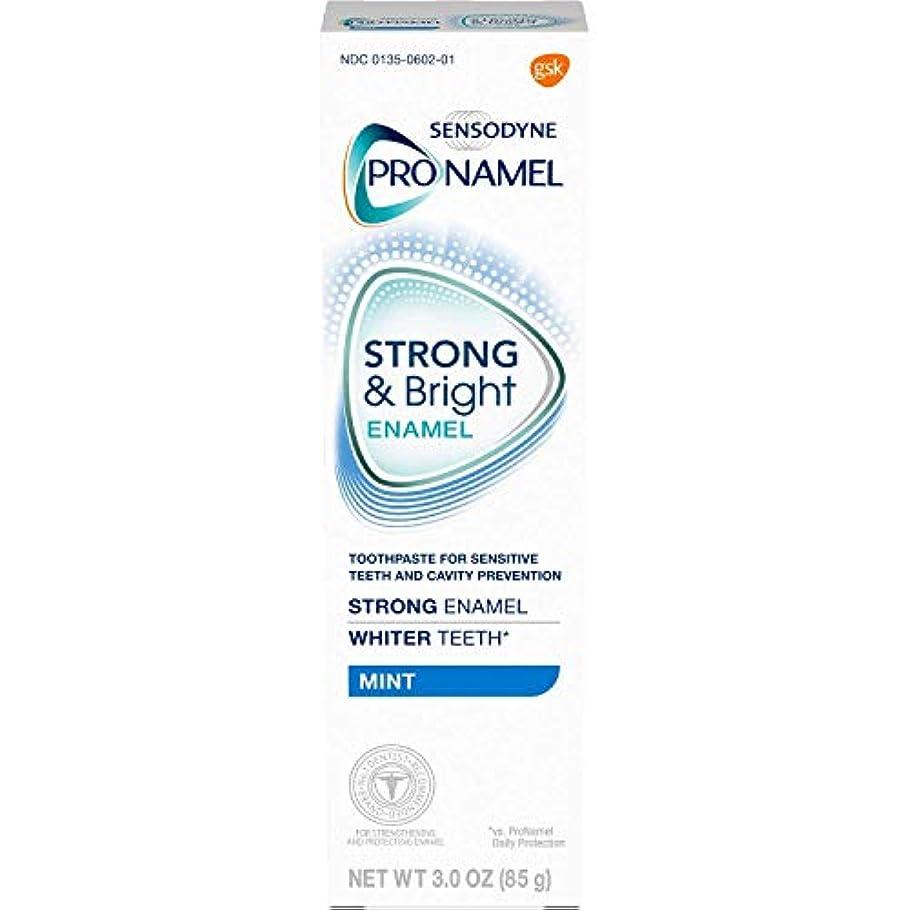 手活気づくパリティSENSODYNE PRONAMEL 敏感な歯のミントのためにSensodyne ProNamelストロング&明るいエナメルハミガキ - 3オンス、6パック