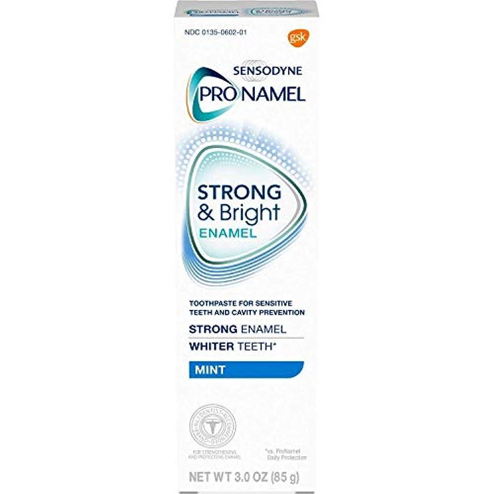 呼吸拳緩やかなSENSODYNE PRONAMEL 敏感な歯のミントのためにSensodyne ProNamelストロング&明るいエナメルハミガキ - 3オンス、6パック