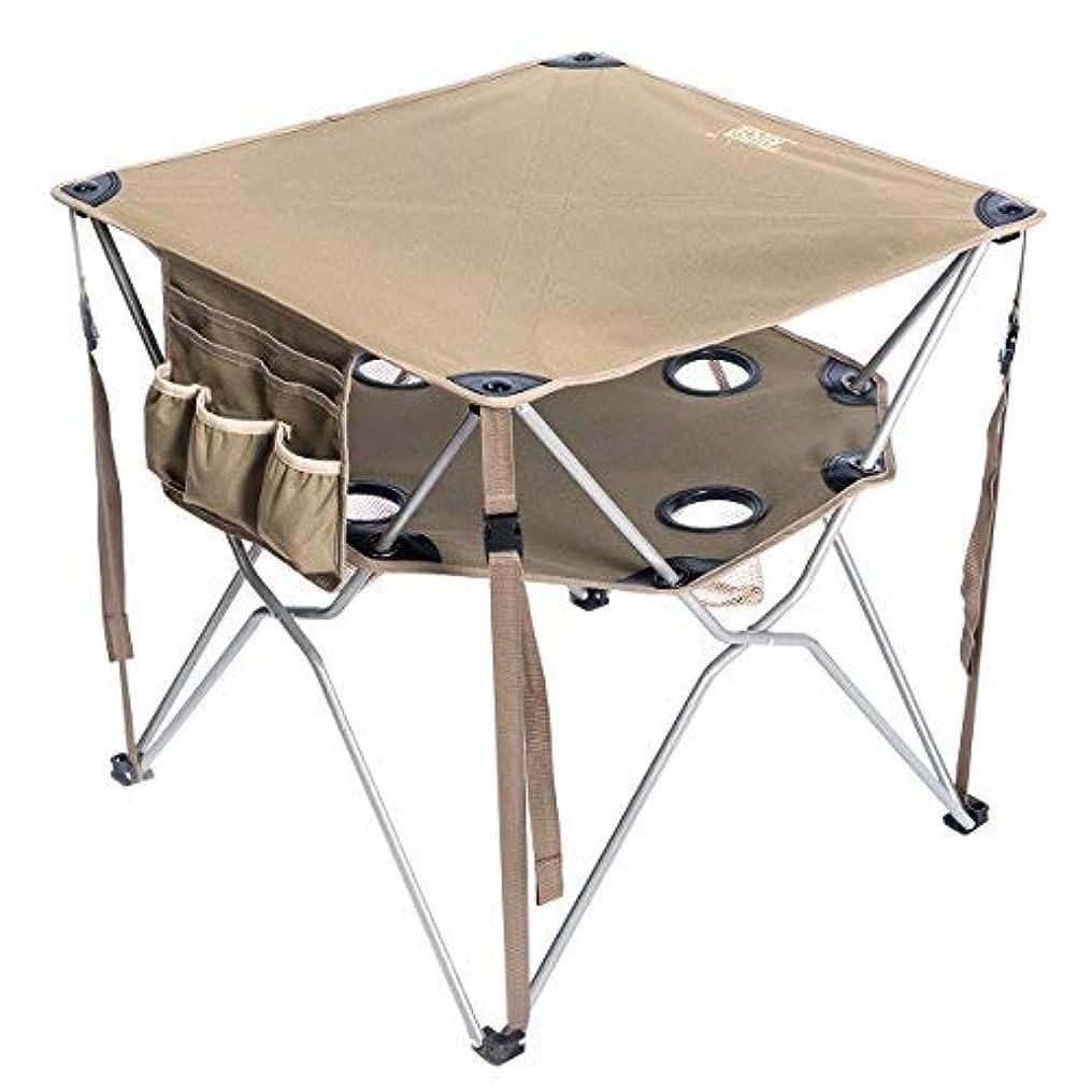 軸おんどりプラットフォームTimber Ridge Folding Table Utility Outdoor Camping Lightweight Desk with Carry Bag and Multi-Function Accessories, Brown [並行輸入品]