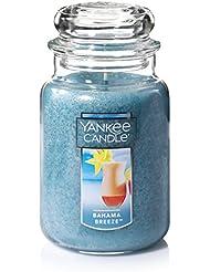 Yankee Candle Bahama Breeze、フルーツ香り Large Jar Candle ブルー 1205301