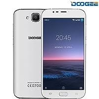 SIMフリースマートフォン, DOOGEE X9 MINI(デュアル SIMフリー 5.0インチ HD IPS スクリーン 3G (au不可) Android 6.0 MT6580 8GB ROM 8MP カメラ 指紋認証 GPS)スマートフォン本体 白