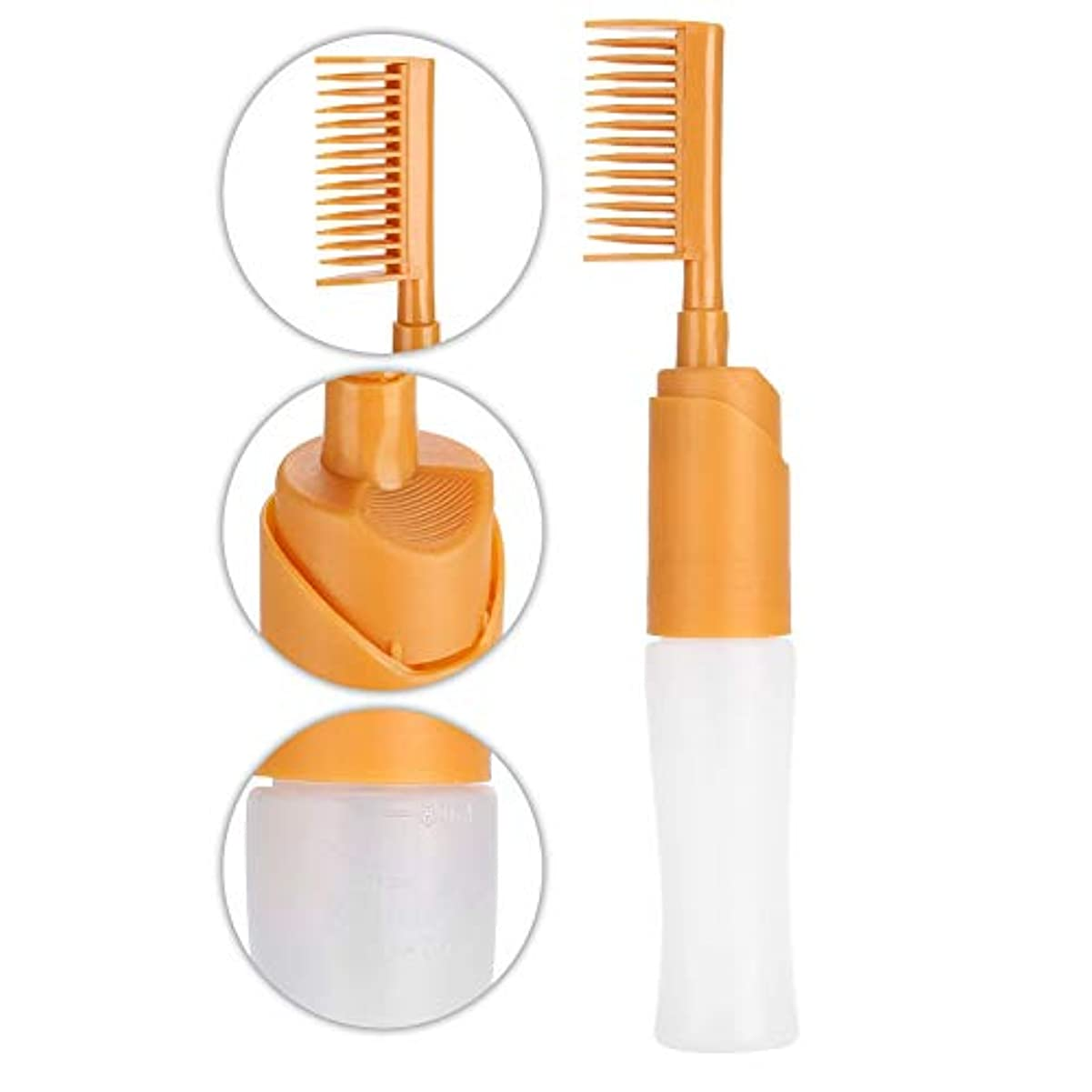 実装する険しい免除80ミリリットルヘアダイボトル付き目盛り付きスケールヘッド理髪着色染料プロフェッショナル理髪ツール