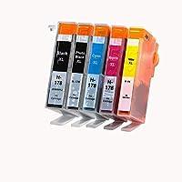 yamakuti 互換インクカートリッジ HPプリンター ヒューレットパッカード HP178XL CR282AA 5色 マルチパック 増量 ICチップなし