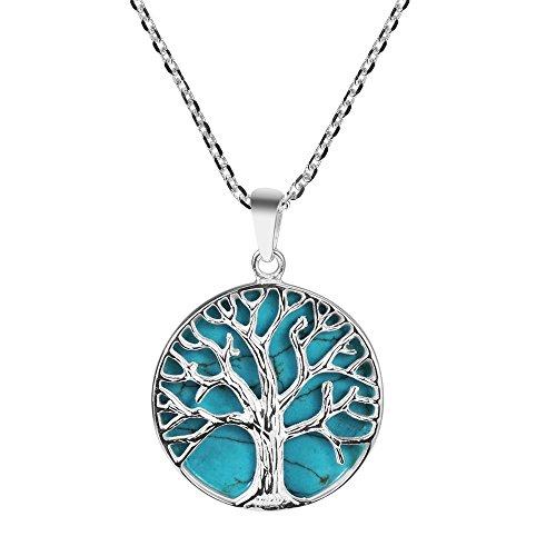 [해외]Mystical Tree of Life 시뮬레이션 터키석 상감. /Mystical Tree of Life simulated turquoise inlay.