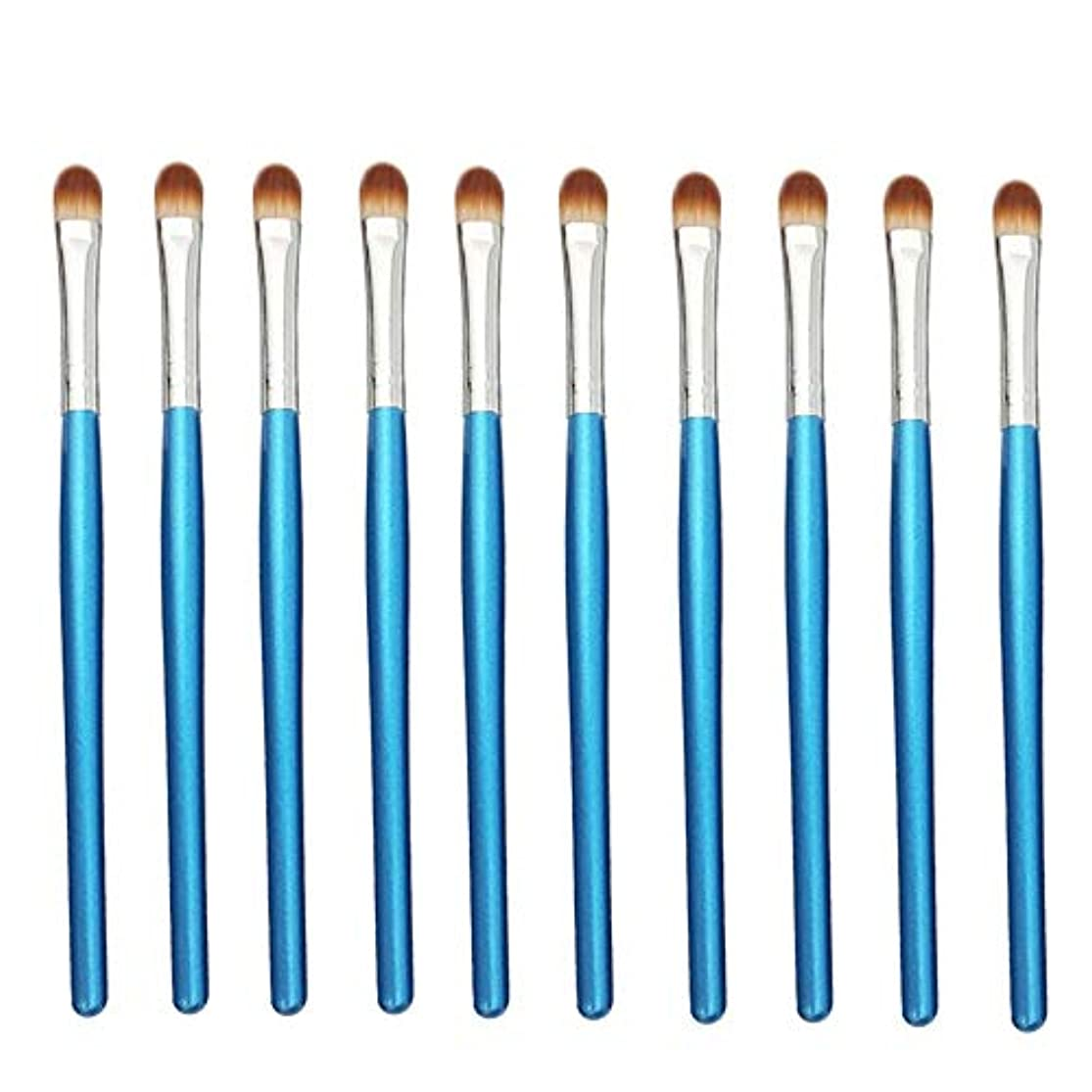スノーケルの慈悲で宿命Makeup brushes 青、初心者および専門家に適したアイシャドウブラシアイメイクブラシ10スティックアイメイクブラシ suits (Color : Blue Silver)