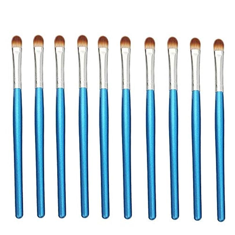 壮大なみかき混ぜるMakeup brushes 青、初心者および専門家に適したアイシャドウブラシアイメイクブラシ10スティックアイメイクブラシ suits (Color : Blue Silver)