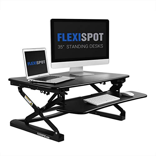 FLEXISPOT 座位・立位両用スタンディングデスク 高さ12段階調節付 35インチ ブラックM2B