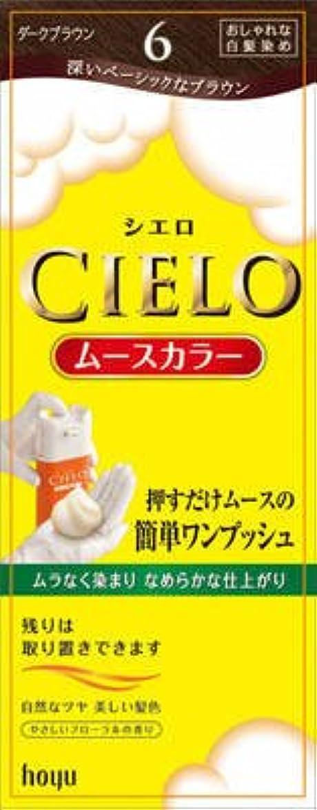 シエロ ムースカラー 6 ダークブラウン × 5個セット