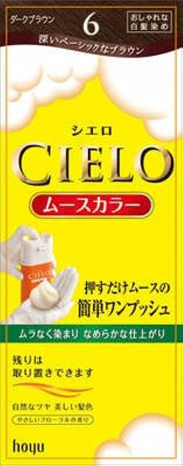 ビートジャンル麺シエロ ムースカラー 6 ダークブラウン × 5個セット