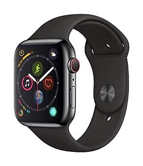 AppleWatch Series4(GPS+Cellularモデル)- 44mmスペースブラックステンレススチールケースとブラックスポーツバンド