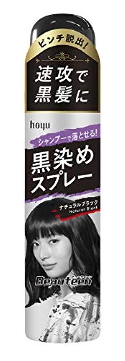 ぼかす愛撫味方ホーユー ビューティーン 黒染めスプレー (ナチュラルブラック) 80g