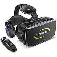 VR ゴーグル VRヘッドセット 「2019最新改良版」 メガネ 3D ゲーム 映画 動画 Bluetooth コントローラ/リモコン 付き 受話可能4.7-6.2インチの iPhone Android などのスマホ対応 黒 日本語取扱説明書付き