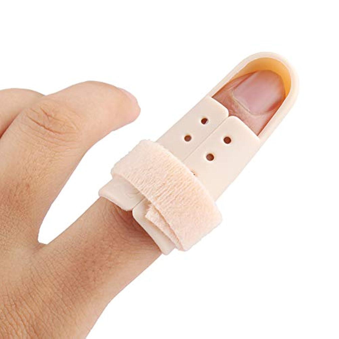 パフもっと監査フィンガースプリントブレース、指関節痛用フィンガーイモビライザー、バスケットボール用プロテクター、5個,S