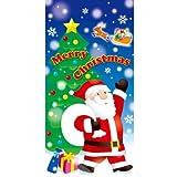 【クリスマス装飾デコレーション】サンタギフト タペストリー(1個)  / お楽しみグッズ(紙風船)付きセット