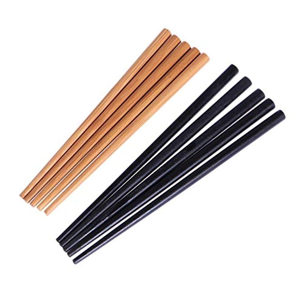 バーゲン返済達成可能Beaupretty 10ピース木製ヘアピンヘアスティックヴィンテージヘアdiyアクセサリー用バンシニヨンヘアスタイリング(ウッドカラー+ブラック)