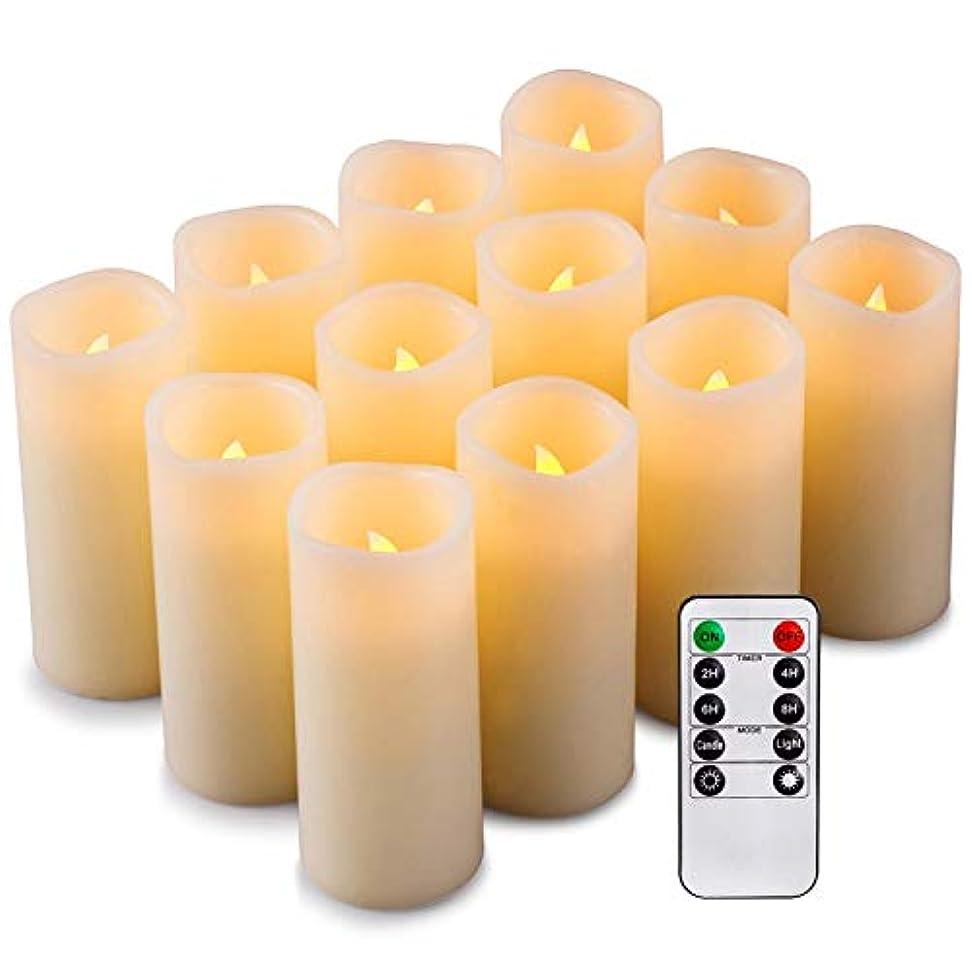 ウミウシ非行順応性のある処置 12 LEDキャンドル、フレームレスキャンドル、キャンドルバッテリー (色 : 30.8*14.8*21.5)