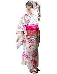 浴衣 子供 選べる19柄 浴衣+兵児帯 キッズ ジュニア 女の子 [リトルプリンセス] Little Princess