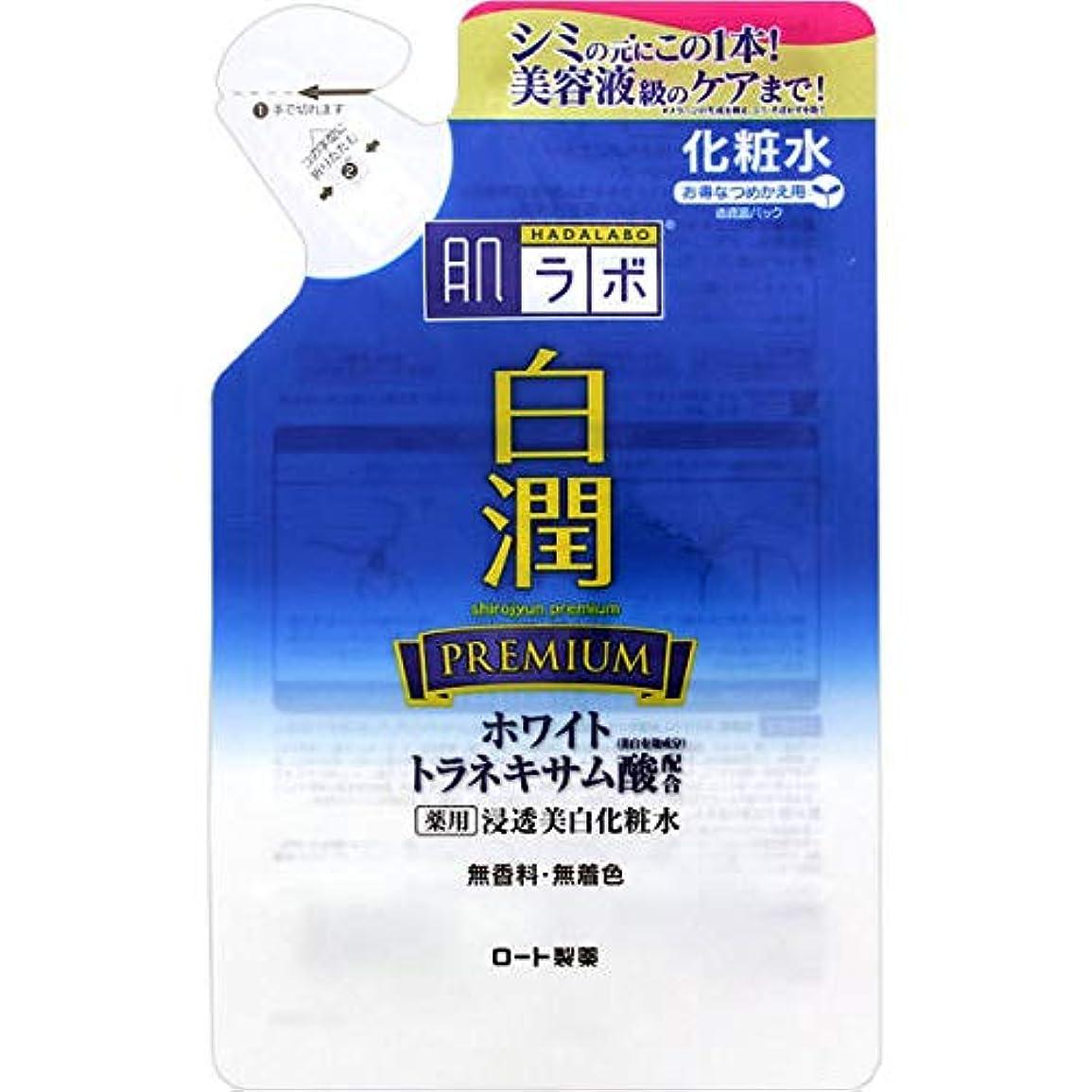 におい地区単位(ロート製薬)肌研 白潤 プレミアム薬用浸透美白化粧水 つめかえ用 170ml(医薬部外品)(お買い得3個セット)
