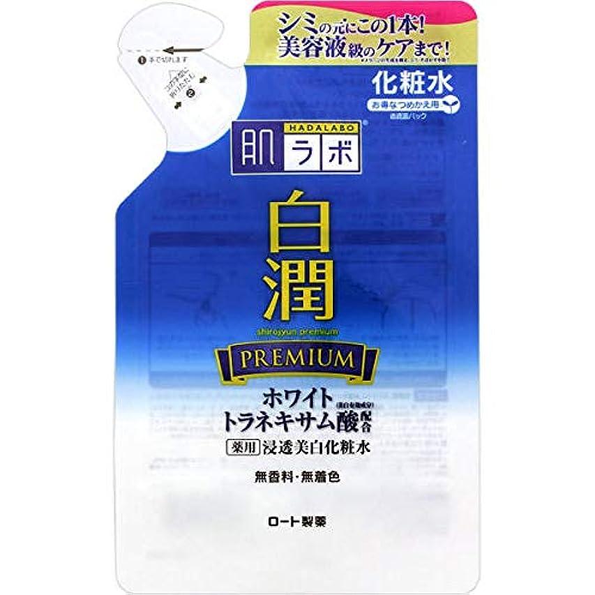 柔らかさチャネルフロー(ロート製薬)肌研 白潤 プレミアム薬用浸透美白化粧水 つめかえ用 170ml(医薬部外品)(お買い得3個セット)