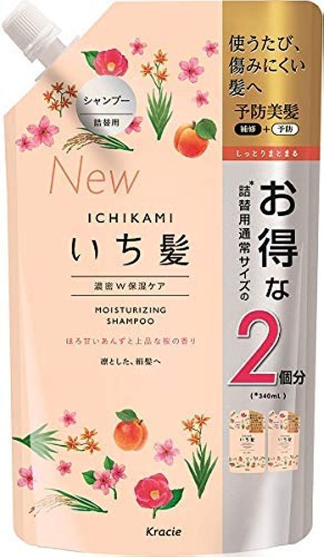 凍るプログラム健康的いち髪 濃密W保湿ケアシャンプー詰替用2回分 × 8個セット