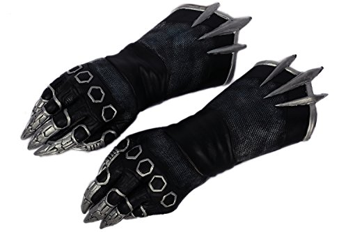 XCOSER ブラック パンサー 手袋 コスプレ グローブ 小道具 イベント用 パーティー 変装