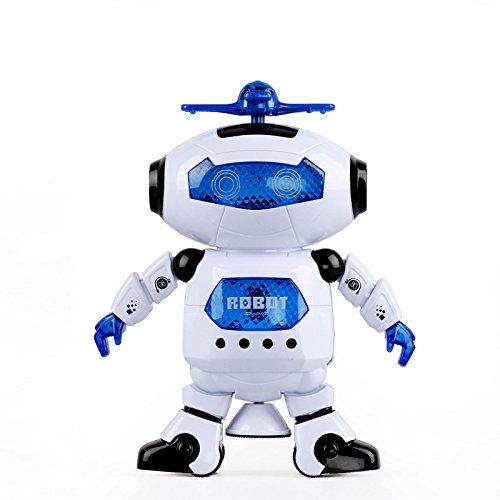 IWELY ダンシングロボット 点滅ライト 360 °回転し...