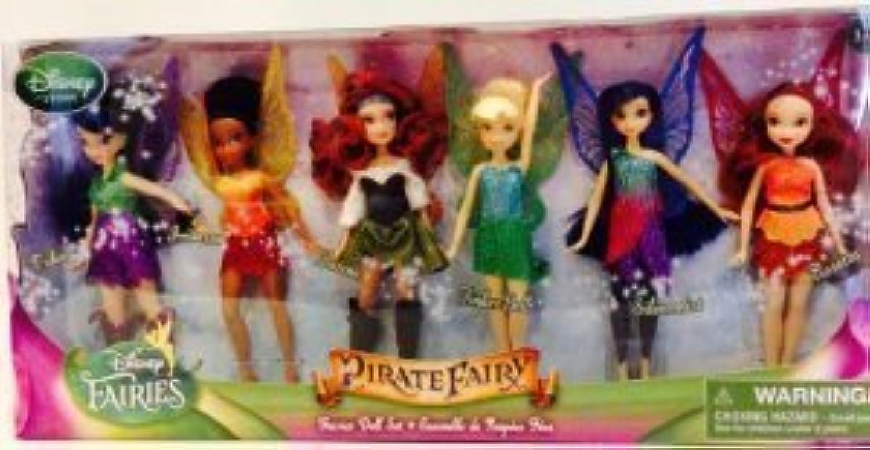 Disney (ディズニー)Pirate Fairy Set of 6 Dolls Tinkerbell (ティンカーベル) Fairy Doll NEW ドール 人形 フィギュア(並行輸入)