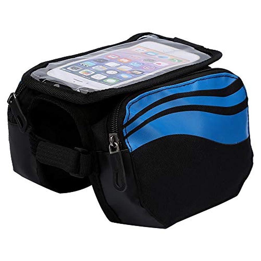 運ぶ揮発性する必要がある自転車フレームバッグ フロントチューブ 防水 安全性 大容量 4.8~5.7インチ スマホに適用 3色