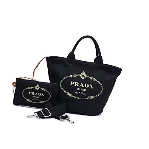 PRADA(プラダ) バッグ トートバッグ ポーチ付き 1BG163 カナパ キャンバス [並行輸入品]