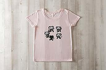 黒猫探偵社【8ダンス】ネコ柄Tシャツ ベビーピンク レディース ガールズ (S)