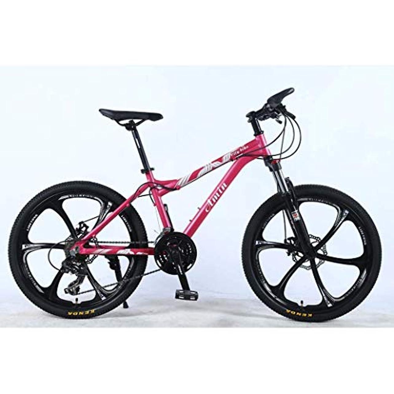ヘルパー彼らのものインキュバスLILICEN 大人のための24インチ24Speedマウンテンバイク、軽量アルミ合金のフルフレームは、ホイール、フロントサスペンション女性のオフロード学生は大人の自転車、ディスクブレーキをシフト ユニバーサル自転車 (Color : Pink, Size : A)