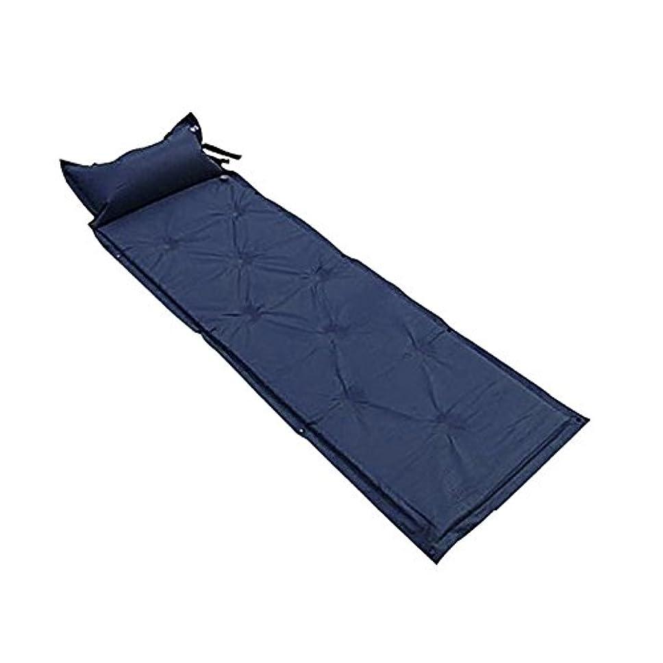 リベラル疑わしい分泌するエアーマット 車中泊マット 自動膨張式/連結可能 キャンピングマット 寝具 テント ブルー[XAA326L]