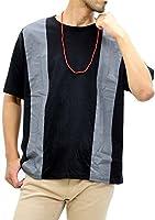 [コントライブ] 大きいサイズ メンズ Tシャツ ネックレス付き ブラック 3L