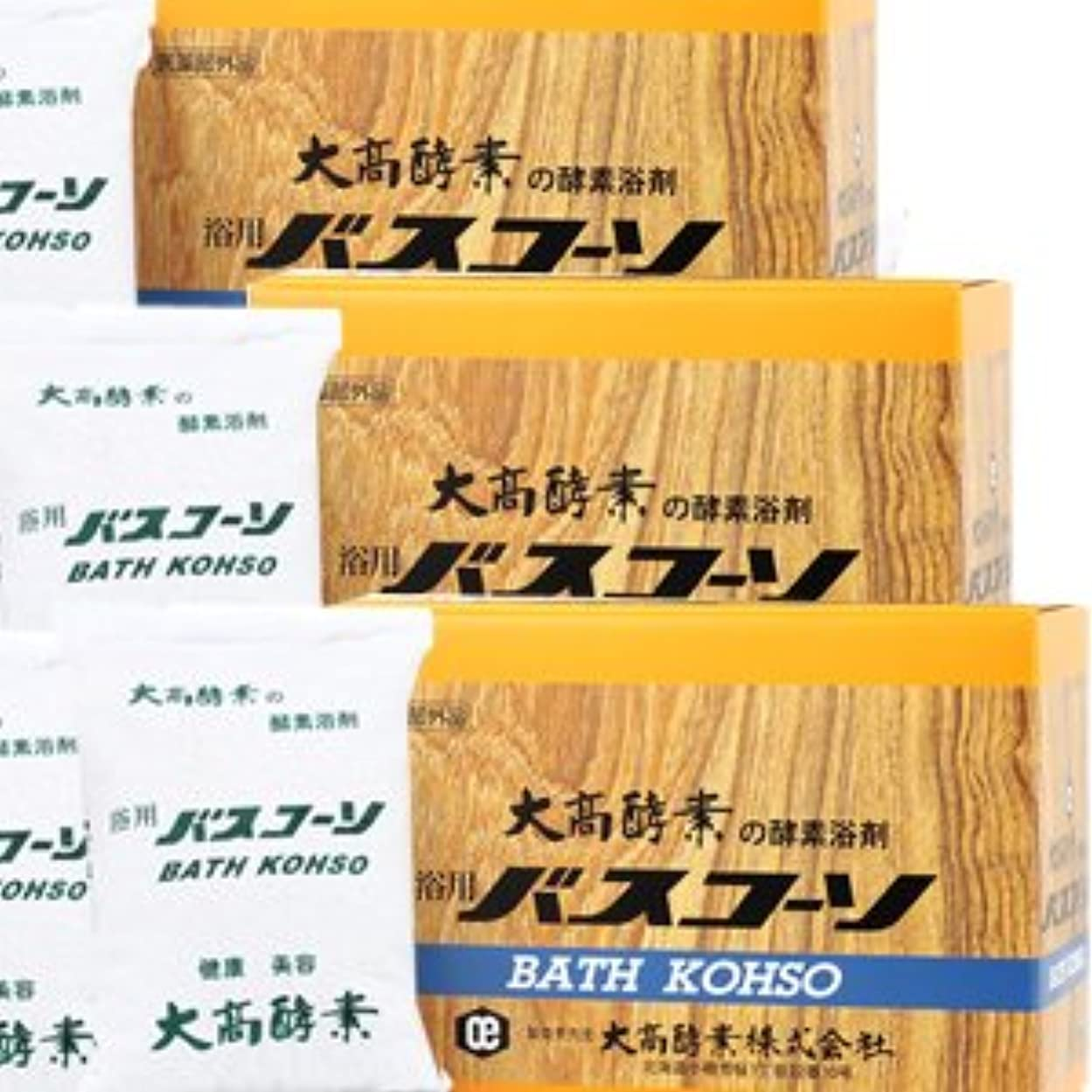 桁誤規制【3個】 大高酵素 バスコーソ酵素入浴剤(100g×6袋)x3個 4971578001095