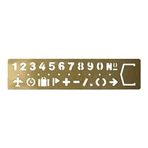 ミドリ ブラス テンプレート ブックマーク ナンバー