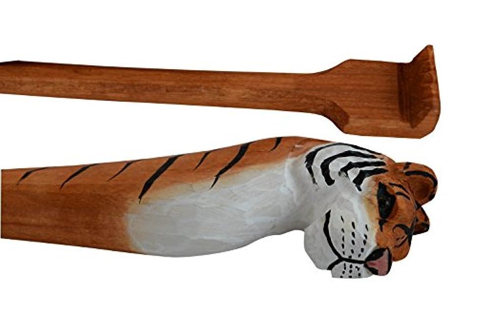 変数咳憂鬱なBack Scratcher Hand Crafted動物メンズレディース木製孫の手 Backscratcher