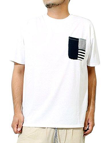 Tシャツ メンズ 大きいサイズ 半袖 ひんやり 接触冷感 汗染み防止 切替ポケット 消臭 抗菌 無地 クルーネック カットソー