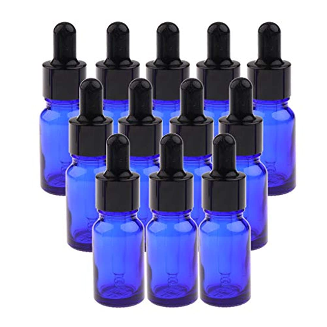 不公平レシピ調整可能オイルボトル ガラス 液体 ドロッパー 化粧ボトル メイクボトル コスメ詰替え容器 全3サイズ - 15ML
