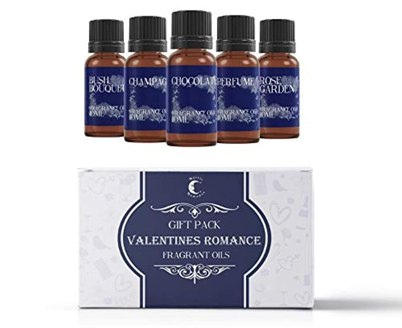 劇的パッドモザイクMystic Moments | Fragrant Oil Starter Pack - Valentines Romance - 5 x 10ml