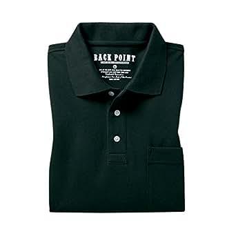(セシール)cecile 綿100%ポロシャツ(長袖) JK-17 35 ブラック L