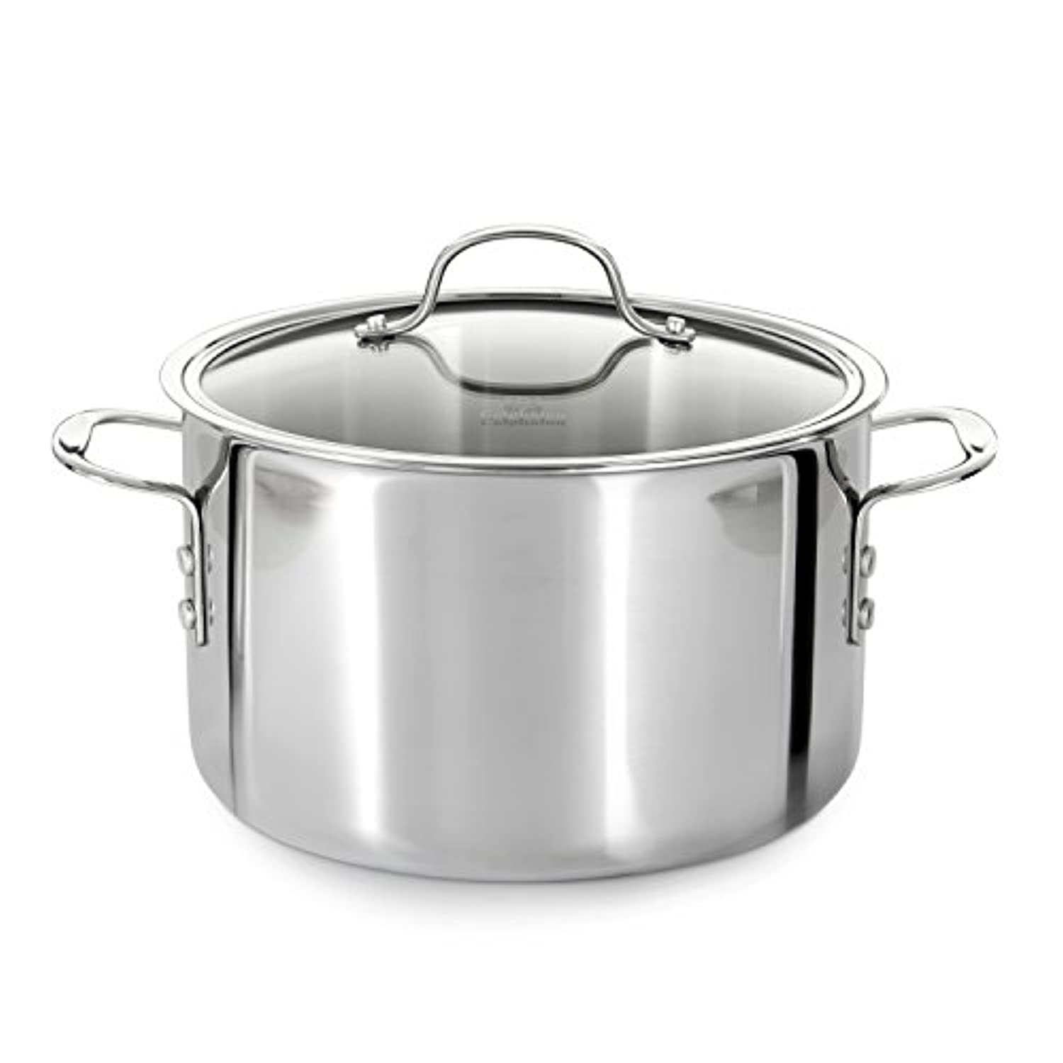Calphalon Tri-Ply Stainless Steel 8-Quart Stock Pot with Cover by Calphalon