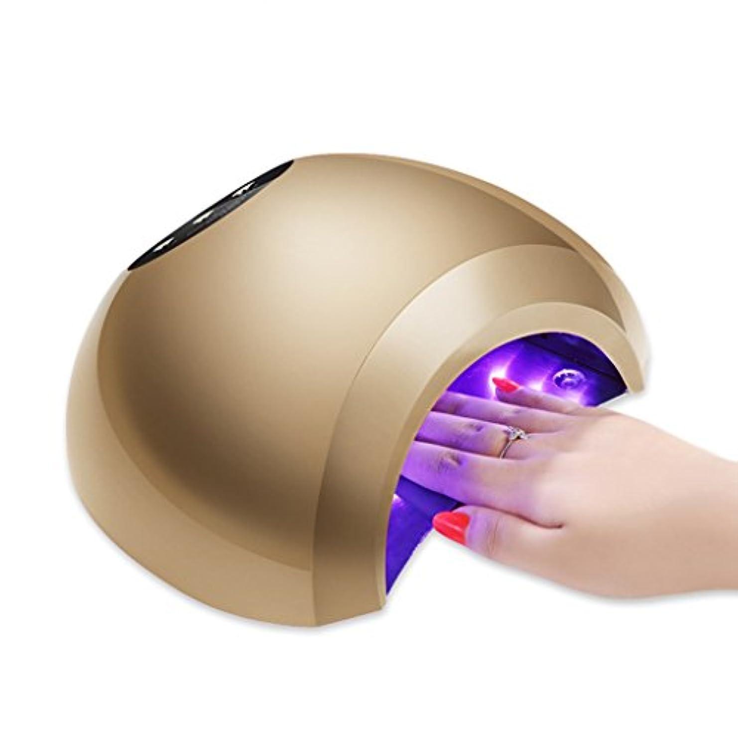 ハンマー誕生着服48WネイルランプUVビールジェルネイルドライヤー24ビーズ3タイマー設定10秒/ 30秒/ 60秒と自動センサー、プロ用ゲル硬化用硬化ランプ