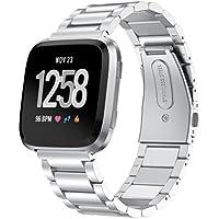 inverlee Luxuryステンレススチールストラップ手首バンド交換ブレスレットfor Fitbit Versa One Size