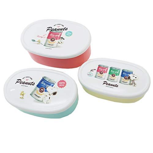 スヌーピー[お弁当箱]シール容器 3Pセット/スープ缶 ピーナッツ