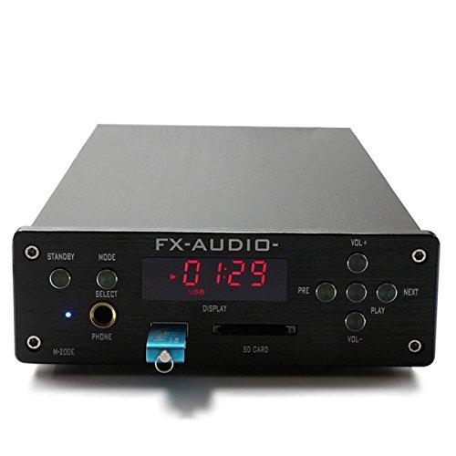 FX-AUDIO M-200E ヘッドフォンアンプ HiFi 2.0デジタルオーディオ Bluetooth 120W * 2入力 24Bit/192KHz AC110-220V (ブラック)