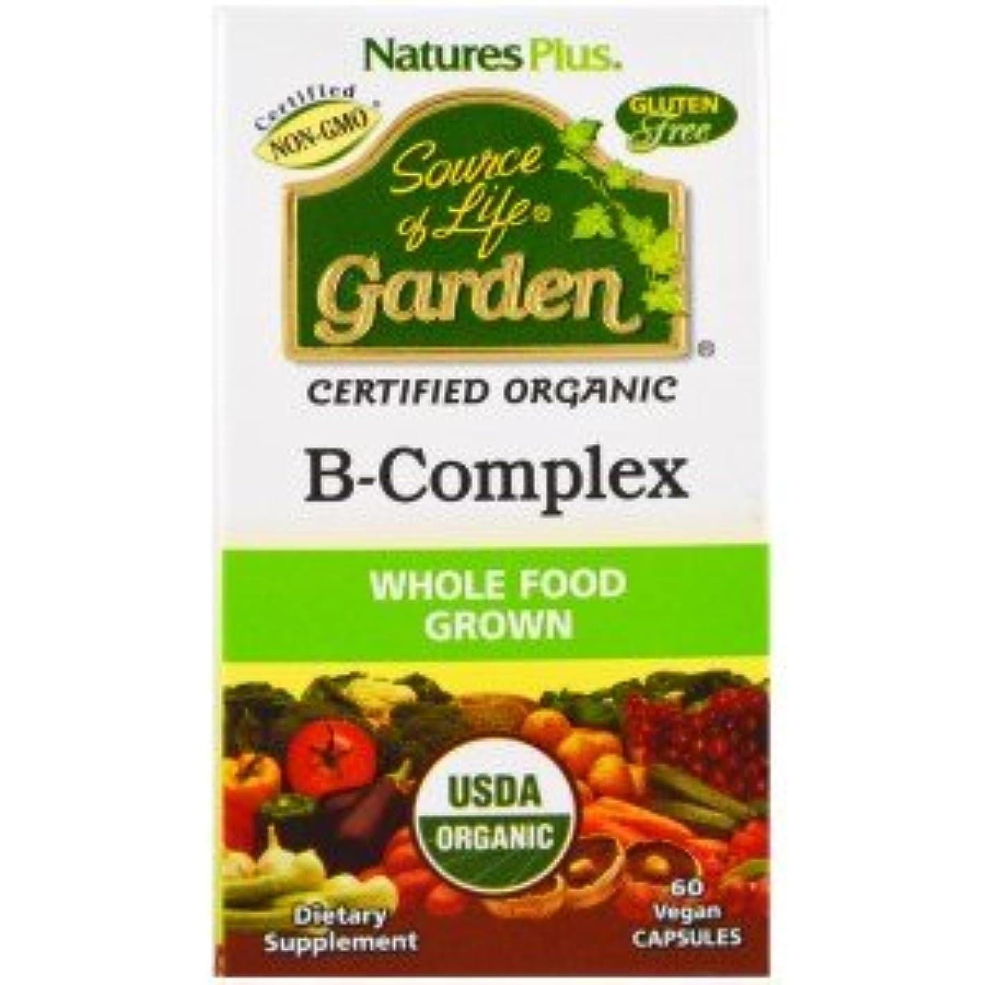 【海外直送品】Nature's Plus - Source of Life Garden, Organic B-Complex - 60カプセル