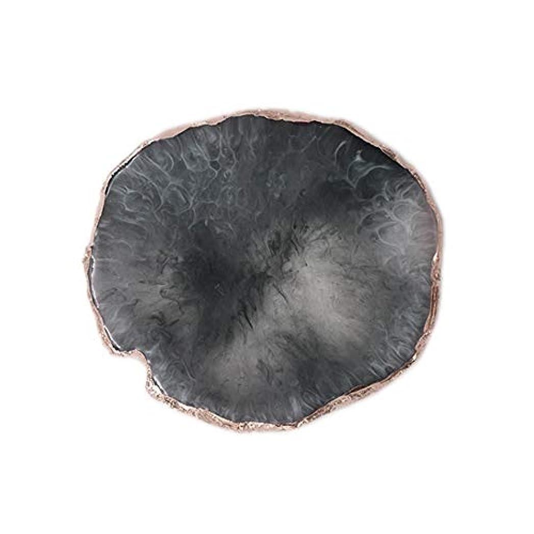 失速検出迷路天然多色瑪瑙色付き樹脂着色プレートネイルのヒントディスプレイボードツールシェルフマニキュアネイルアートツール - 黒